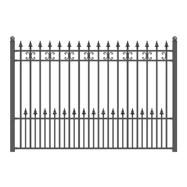ALEKO St. Petersburg Style Ornamental Iron Wrought Garden Fence 8'x5' Black