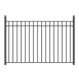 ALEKO Madrid Style Steel Yard Garden Fence 8Ft x 5Ft Black