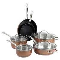 Oneida 10-pc Stainless Steel Cookware Set w/ Copper Exterior