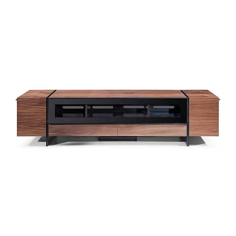 Mebane Modern Walnut Entertainment Center