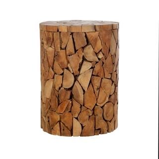 Holzhocker Recycled Teak Wood Round Stool