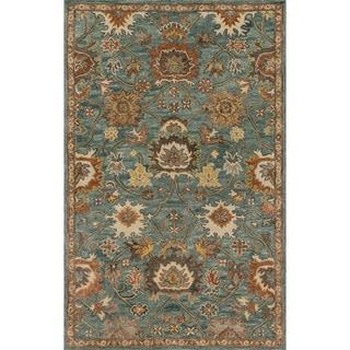 "Alexander Home Prescott Blue/Rust/Grey Wool Hand-hooked Rug (7'9 x 9'9) - 7'9"" x 9'9"""