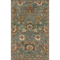 Alexander Home Prescott Blue/Rust/Grey Wool Hand-hooked Rug (7'9 x 9'9)