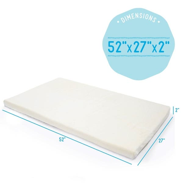 Shop Milliard 2 Inch Ventilated Memory Foam Crib Toddler Bed