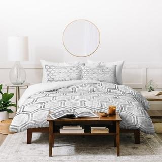 Kelly Haines Concrete Hexagons Duvet Cover Set
