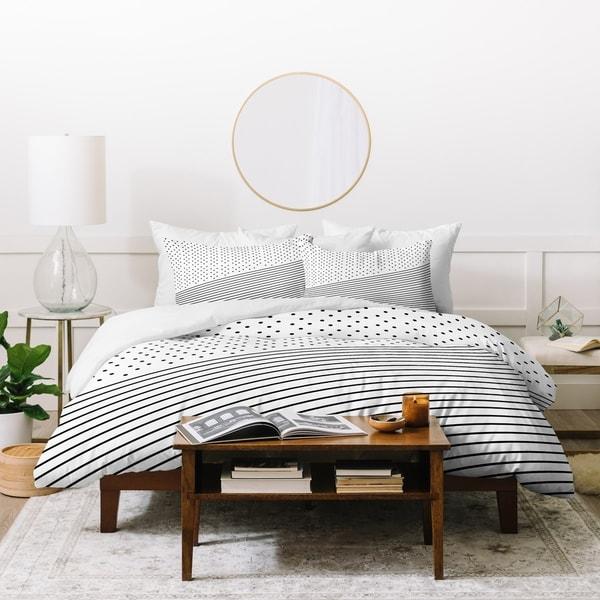 Deny Designs Dots and Stripes Duvet Cover Set (3-Piece Set)