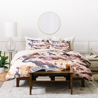 Amy Sia Marbled Terrain Rose Pink Duvet Cover Set