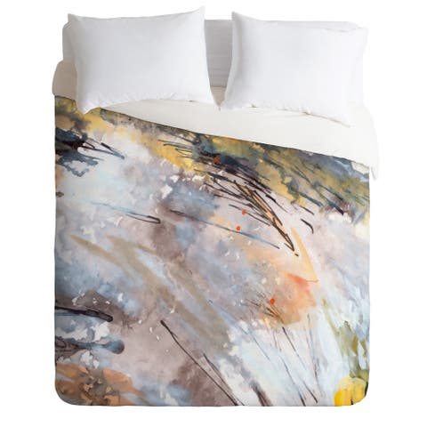 Ginette Fine Art Feathers In The Wind Duvet Cover Set