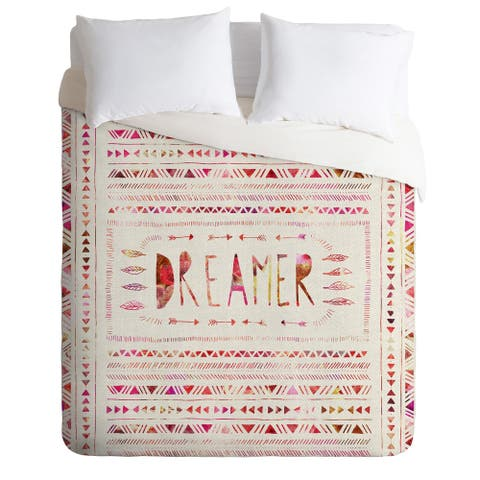 Bianca Green Dreamer Pink Duvet Cover Set