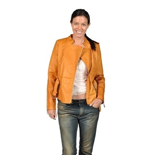 Jou Jou Sienna Color Faux Leather Womens Jacket with Belt