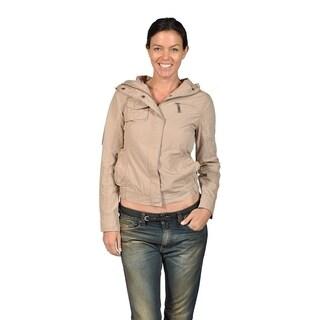 Jou Jou Womens ZipUp Closure 4 Front Pocket Hooded Jacket (3 options available)