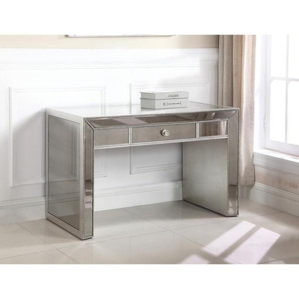 Best Master Furniture Mirrored Writing Desk
