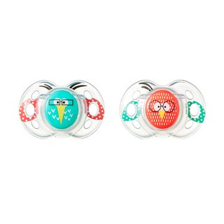 Tommee Tippee Fun Style Pacifier - 6-18 Months - 2 Pack - Blue-Red/Bird