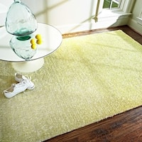 Alexander Home Elle Citron Chartreuse Hand-tufted Shag Rug - 5' x 7'6