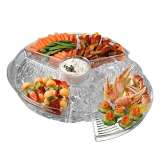 Chilly Icy Appetizer Serving Tray - Fresh Food Plastic Party Tray