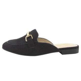 Paprika FM13 Women's Slip On Backless Flat Heel Loafer Mules