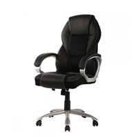 homcom pu leather mid back executive office chair black free