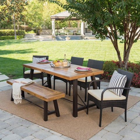 Betsys Outdoor 6-Piece Wood Dining Set by Christopher Knight Home