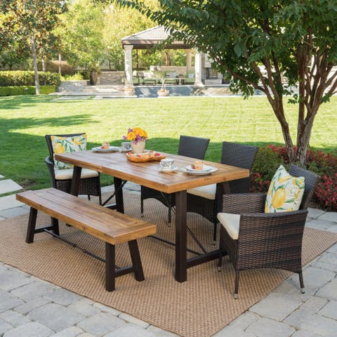 Jennys Outdoor 6-piece Wood Dining Set by Christopher Knight Home