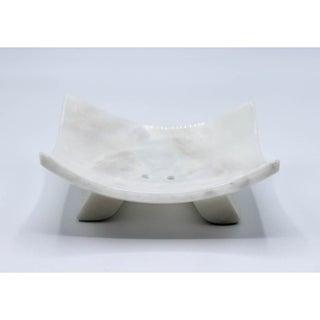 Rectangular marble soap dish