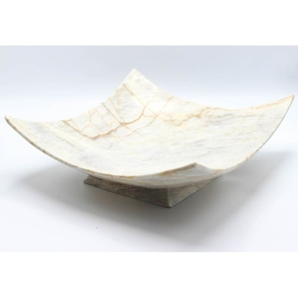 Shop Square Shaped Marble Tray That Can Hold Fruits Or Decorative