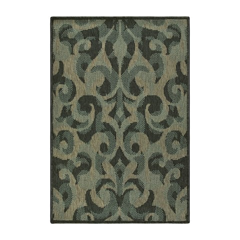 Superior Designer Aldaine Indoor/Outdoor Area Rug collection - 2' x 3'