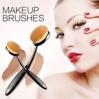 Belsion Profesional Oval Makeup Toothbrush Set 10pcs