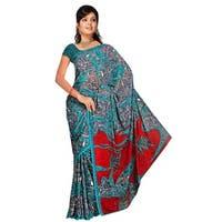 Trisha Georgette Printed Casual Saree Sari Bellydance fabric