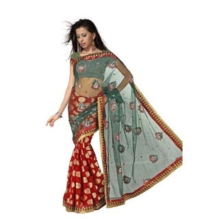 Barsha Georgette Indian Sari saree with Embroidery