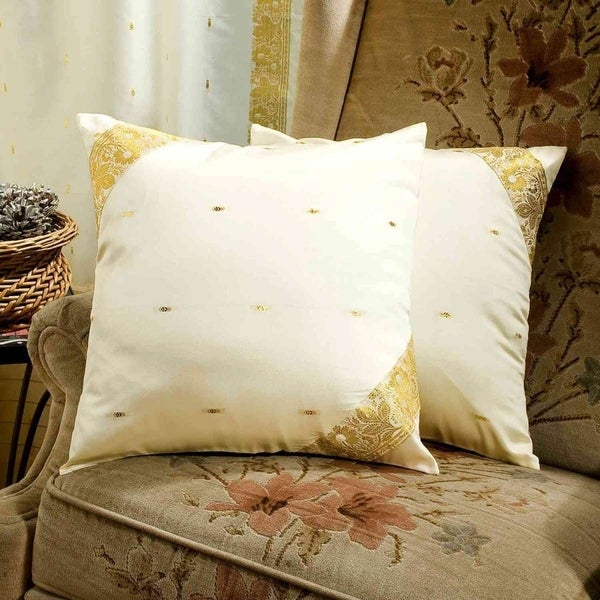Shop Cream Decorative Handcrafted Cushion Cover Throw
