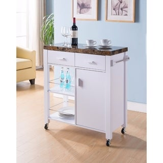 Highly Functional Kitchen Cart, White
