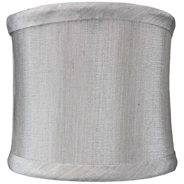 4x4x4 Crisp Shantung Clip-On Sconce Half-Shell Lamp shade Grey