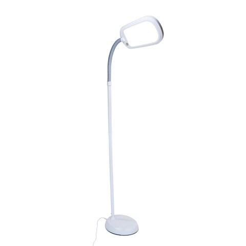 LED Bright Reader Natural Daylight Full Spectrum Floor Lamp Grey NEW SLIMMER DESIGN