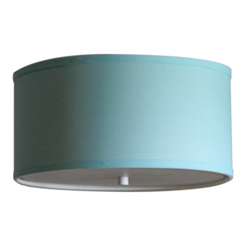 14 Moderne Flush Mount Converter Kit Island Paridise Blue Drum Lampshade 14x14x7