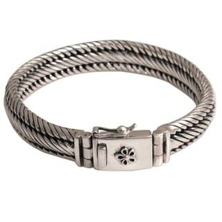 Handmade Sterling Silver 'Eternal Shine' Bracelet (Indonesia)