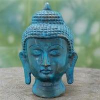 Handcrafted Brass 'Peaceful Siddhartha' Buddha Wall Sculpture (India)