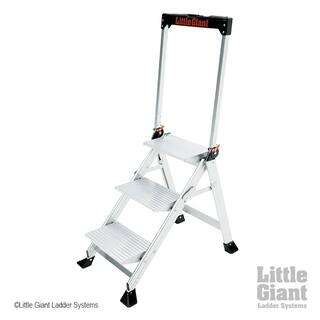 Little Giant Aluminum 3 Step Safety Step Ladder Free