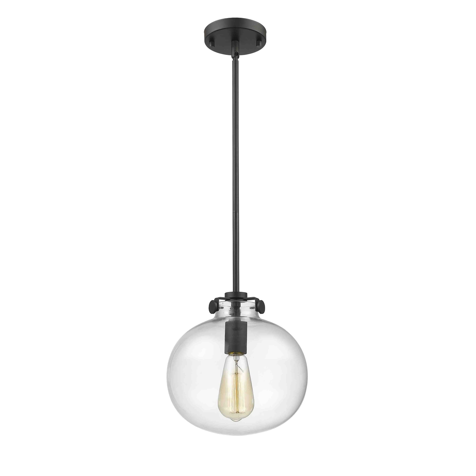 Floating Clear Glass Bronze-finish Sphere Pendant Light (...