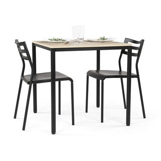 Good Jupiter Dining Black/ Grey Table (Includes 2 Chairs)