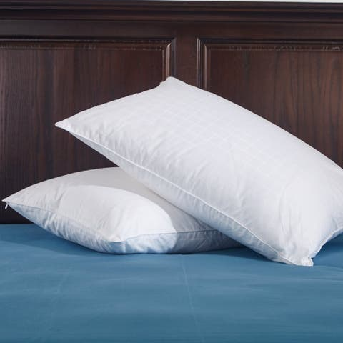 St. James Home 233 Thread Count Cotton White Down Pillow (Set of 2)