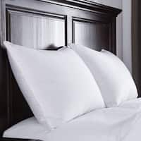 St. James Home Luxury White Goose Down Pillow 400 Thread Count Sateen Cotton Fabric