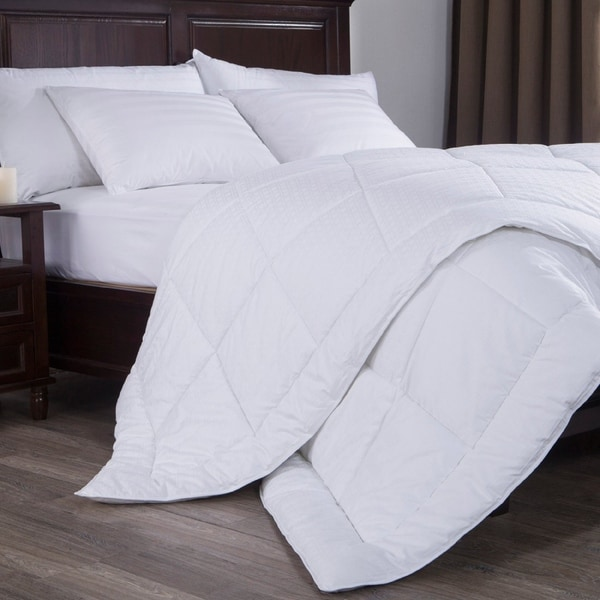 St. James Home 300 Thread Count Dobby Check Down Alternative Comforter