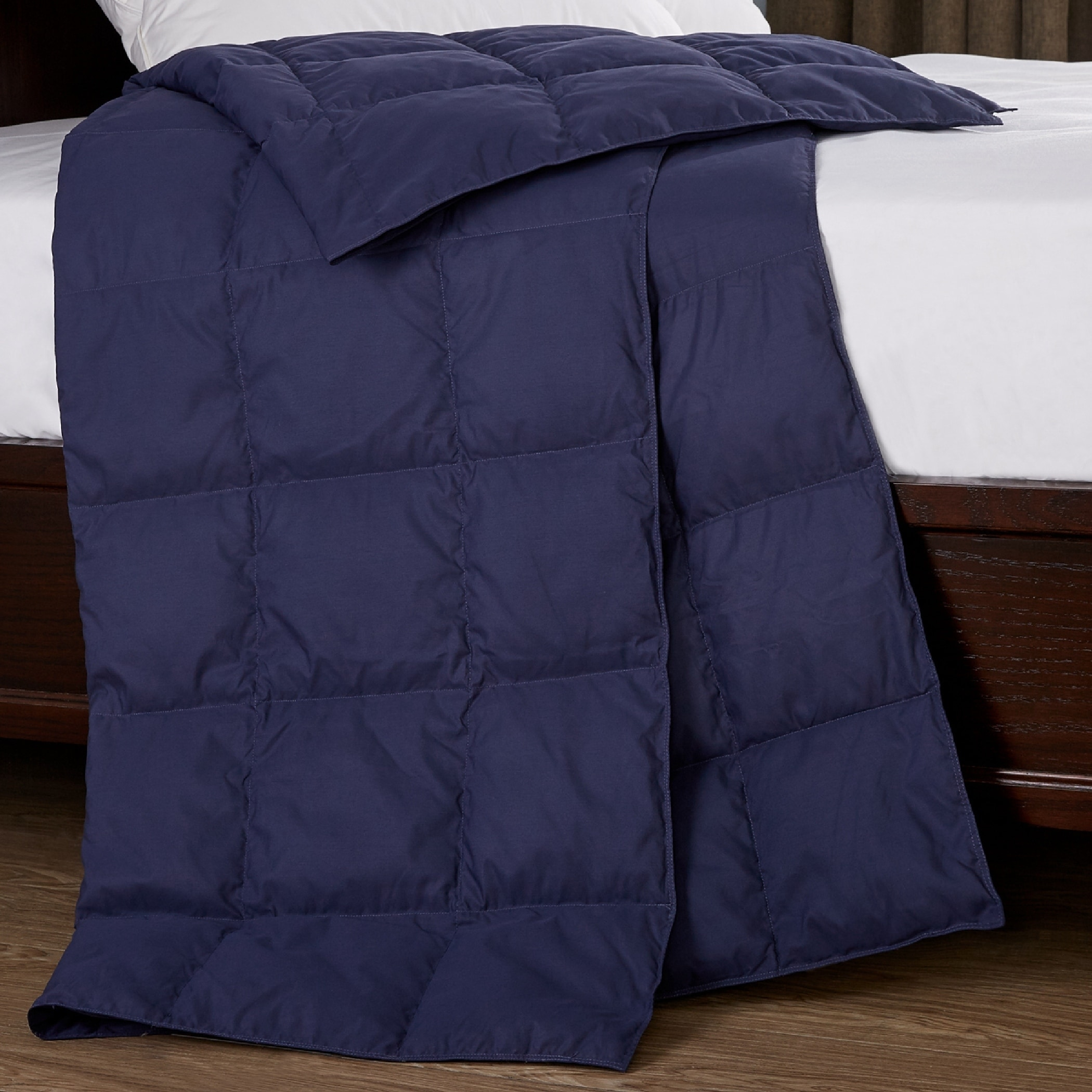 St. James Home Packable Down Throw Blanket in Blue (As Is...
