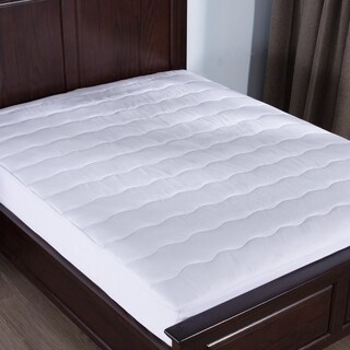 St. James Home Memory Foam Down Alternative Mattress Pad - White