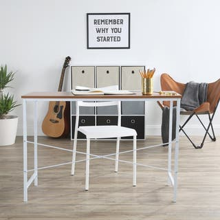 Lucky Theory Style Office Desk White Maple