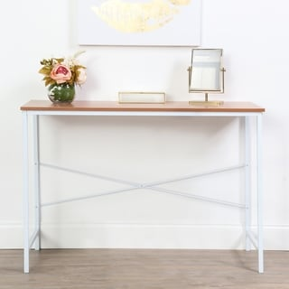 lucky theory industrial style office desk white u0026 maple