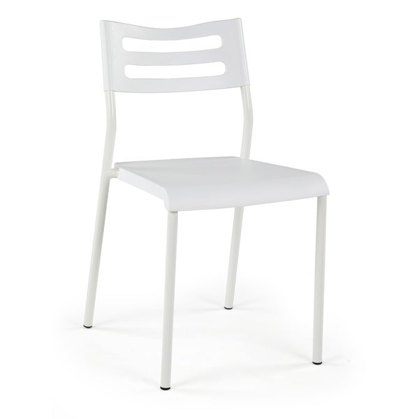 Humble Crew Industrial Style Desk Chair, White