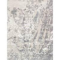 "Pasargad Modern Silver/Grey Silk & Wool Area Rug (8' 0"" X  9'10"")"