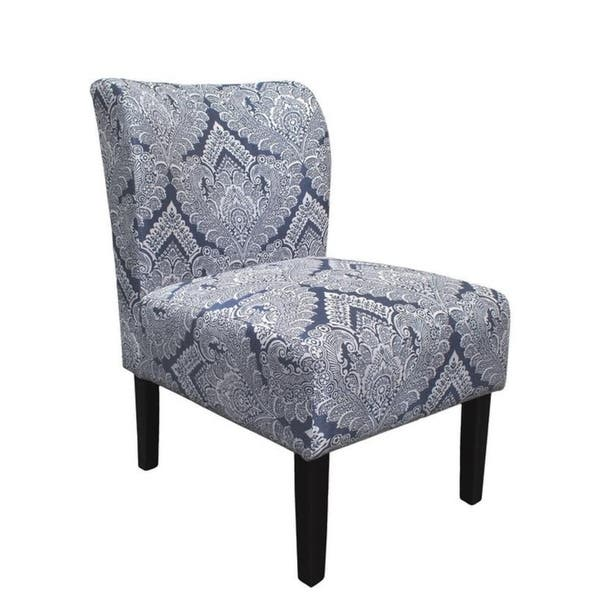 Best Master Furniture Azure Damask Upholstered Accent Chair