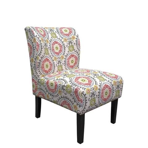 Best Master Furniture Floral Eggshell Upholstered Accent Chair
